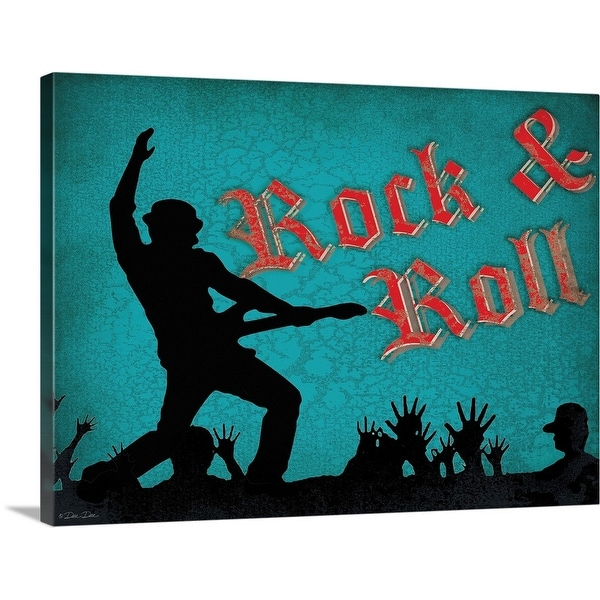 """Rock and Roll"" Canvas Wall Art"