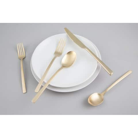 Cambridge Silversmiths Beacon Champagne Satin 20 Piece Flatware Set, Service for 4 - 20 Piece