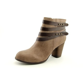 Madden Girl Deluxe Women  Round Toe Synthetic Brown Ankle Boot