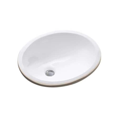 Fine Fixtures White Oval Ceramic Undermount Sink