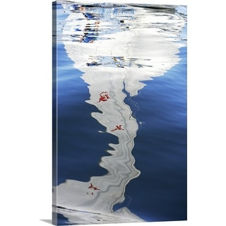 """""""Reflection of sailboat on water"""" Canvas Wall Art"""