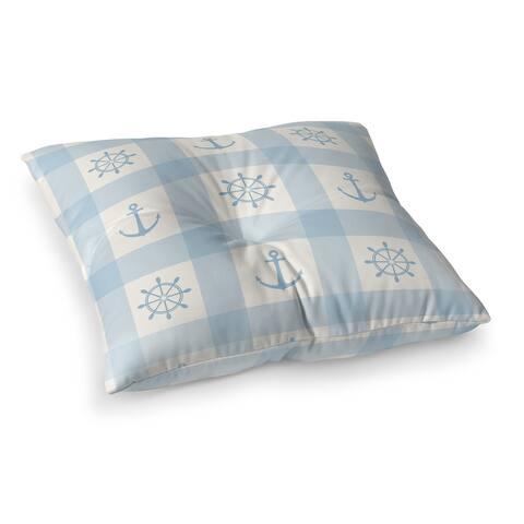 ANCHOR GALORE LIGHT BLUE Floor Pillow by Kavka Designs