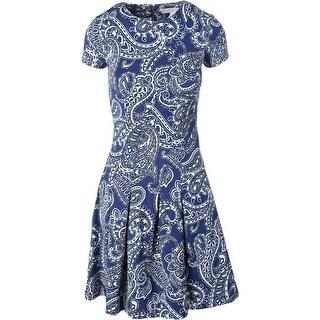 MICHAEL Michael Kors Womens Matte Jersey Paisley Wear to Work Dress - 2