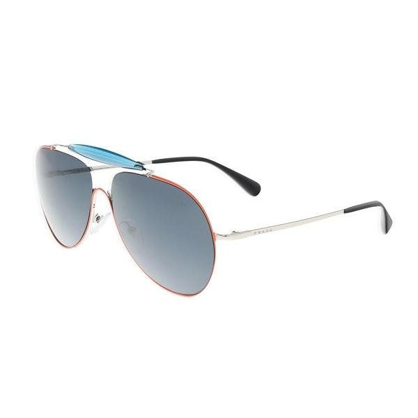 608135d1acb Shop Prada PR 56SS UFS2K1 Blue Coral Aviator Sunglasses - 59-13-140 ...