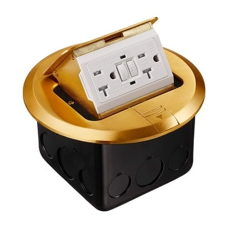 Shop Pop Up Electrical Floor Outlet Box Round Gfci