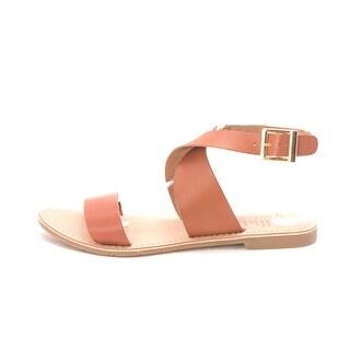 Callisto Womens Babita Leather Open Toe Casual Slingback Sandals