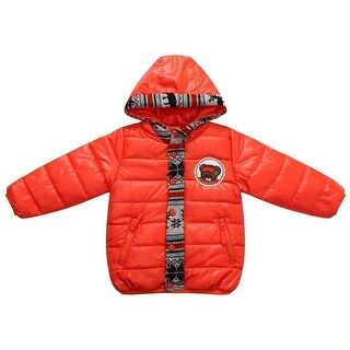 Richie House Little Boys Yellow Snowboarder Teddy Quilted Padding Jacket 1-6