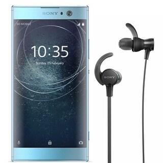 Sony Xperia XA2 Unlocked Smartphone (32GB/Blue) with Sports In-Ear Headphones - BLue