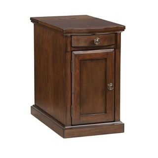 Laflorn Chair Side End Table Medium Brown Laflorn Chair Side End Table Medium Brown