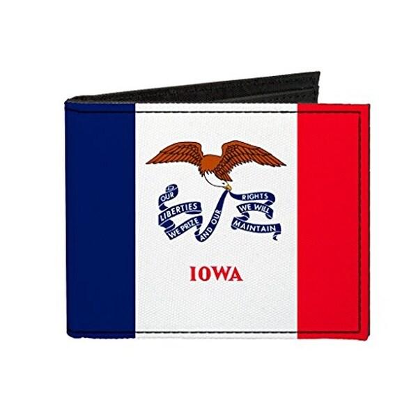 Buckle-Down Canvas Bi-fold Wallet - Iowa Flag Accessory