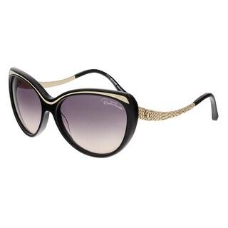 Roberto Cavalli RC898S HEZE 01B Black/Gold Cateye Sunglasses