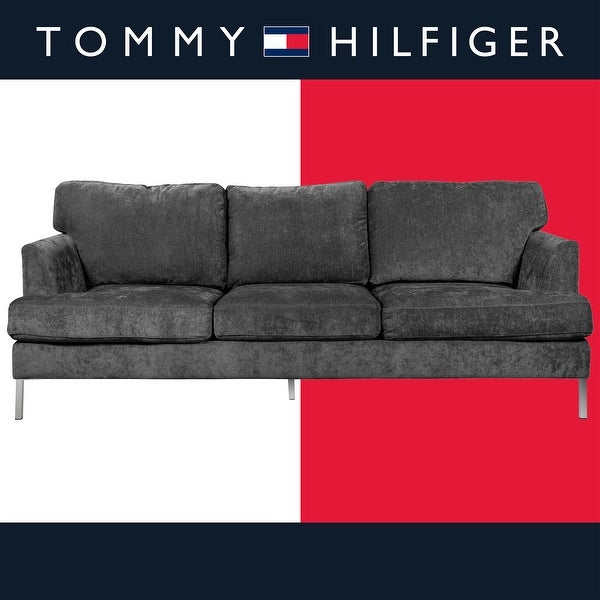 Tommy Hilfiger Lafayette Velvet Sofa. Opens flyout.