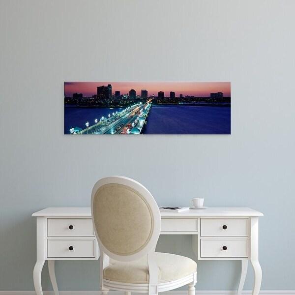 Easy Art Prints Panoramic Images's 'The Pier Skyline St Petersburg FL USA' Premium Canvas Art