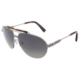Ermenegildo Zegna EZ0007/S 12A Ruthenium/Havana Aviator sunglasses - 60-15-140