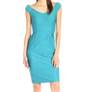 Nanette Lepore NEW Blue Womens Size 2 Textured Stretch Sheath Dress