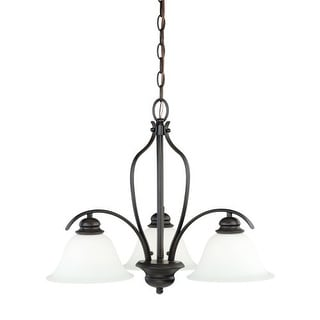 Vaxcel Lighting H0088 Darby 3 Light Single Tier Chandelier with Etched Glass Shades - 22.5 Inches Wide