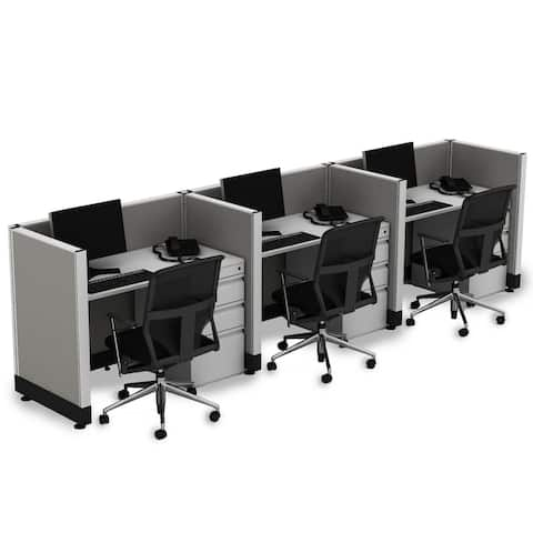 Small Office Cubicles 39H 3pack Inline Unpowered