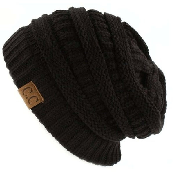 6bb47451f85 Shop Trendy Warm CC Chunky Soft Stretch Cable Knit Soft Beanie Skully