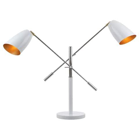 "Safavieh Lighting 32-inch Mavis Adjustable Task Table Lamp - 23-36""x8.75""x27-32"""