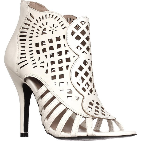 Dolce by mojo moxy Kojo Caged Booties, White