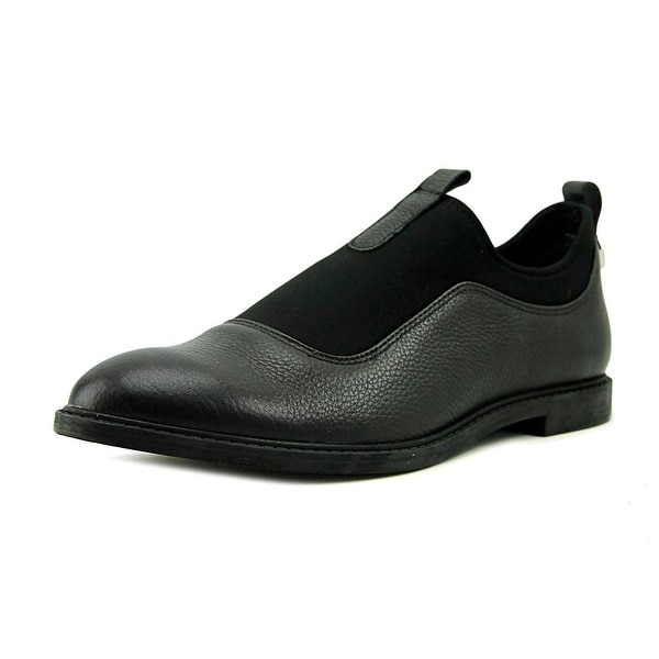 Calvin Klein Damira Women Round Toe Leather Black Loafer