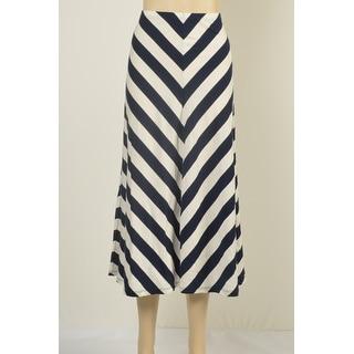 American Living Chevron-Print A-Line Midi Skirt - M