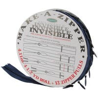 Make-A-Zipper Kit Invisible 4-1/2yd-Navy - Blue