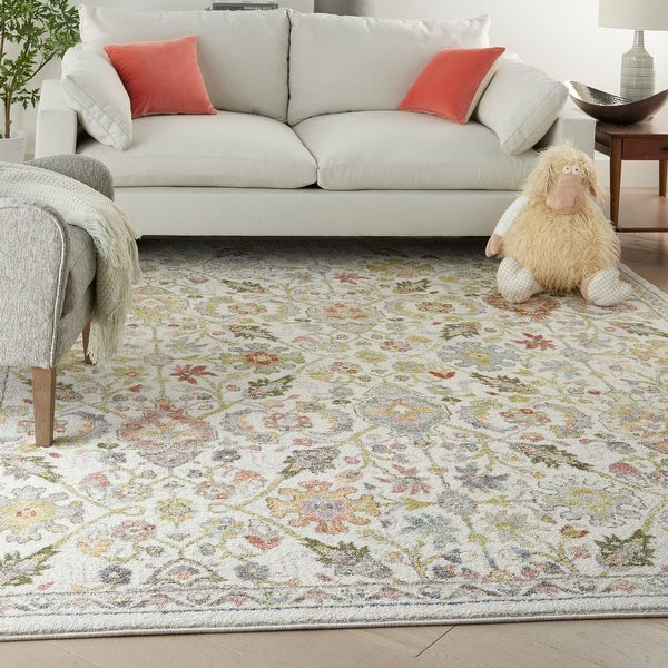 Nourison Soraya Transitional French Country Floral Area Rug. Opens flyout.