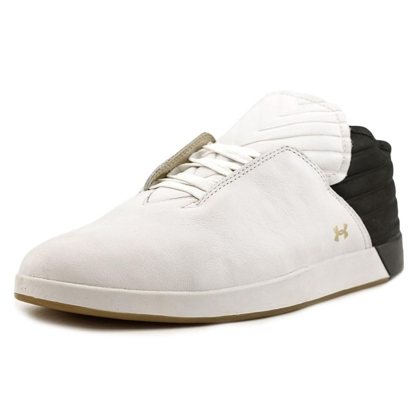 Shop Under Armour Gold Men Leather White Fashion Sneakers - Free ... f39132d975df