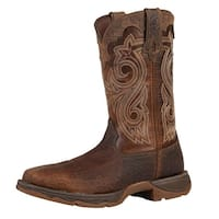 "Durango Work Boots Womens 10"" Rebel Steel Toe Rocker Heel Brown"