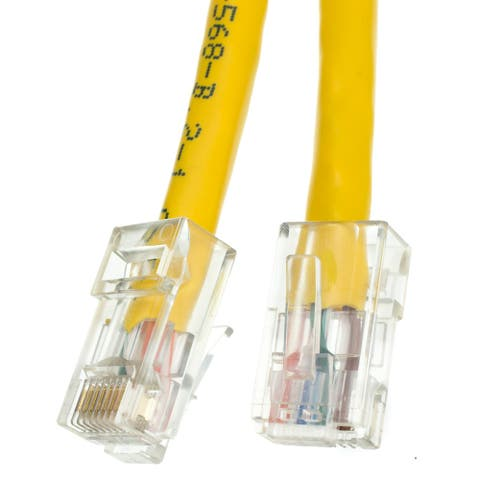 Offex Cat6 Yellow Ethernet Patch Cable, Bootless, 1 foot