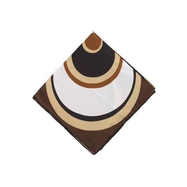 Tom Ford Men's Brown Abstract Circle Silk Pocket Square
