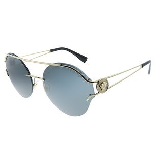 Link to Versace  VE 2184 125287 Womens Pale Gold Frame Grey Lens Sunglasses Similar Items in Women's Sunglasses