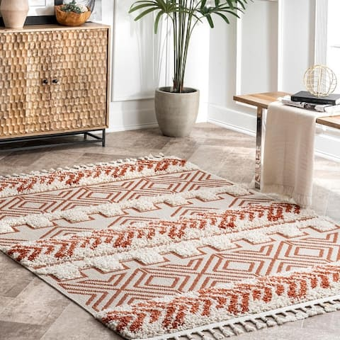 The Curated Nomad Morris Shaggy Banded Tribal Area Rug