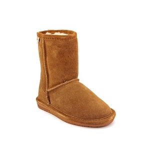 Bearpaw Emma Youth Round Toe Suede Brown Winter Boot