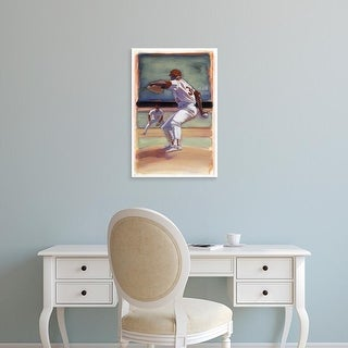 Easy Art Prints Bruce Dean's 'Baseball I' Premium Canvas Art