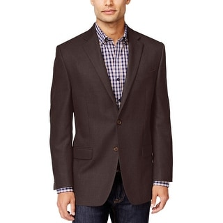 Ralph Lauren Classic Fit Brown Textured Two Button Sportcoat Blazer