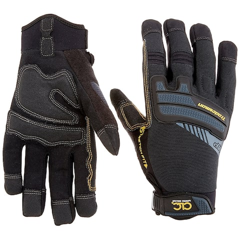 CLC 145L Flex Grip Tradesman Synthetic Leather Work Gloves, Large