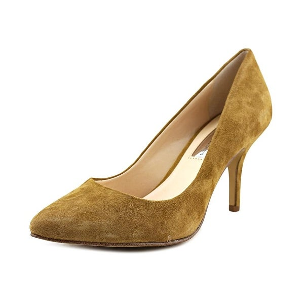 INC International Concepts Zitah Women W Pointed Toe Suede Brown Heels