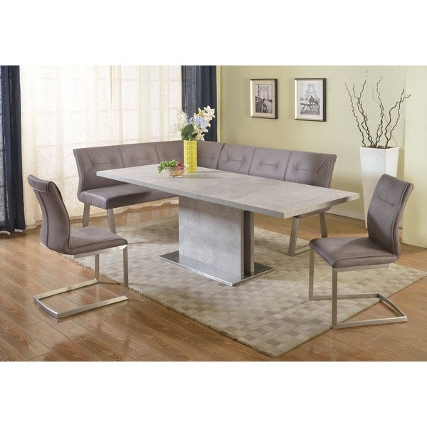 Somette Kalie Grey Extendable Dining Set with Nook. Opens flyout.