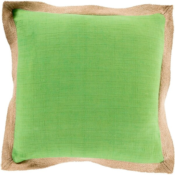 "22"" Simple Life Apple Green and Brown Decorative Throw Pillow - Down Filler"