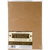 "Kraft - Heavyweight A7 Cards/Envelopes (5.25""X7.25"") 50/Pkg"