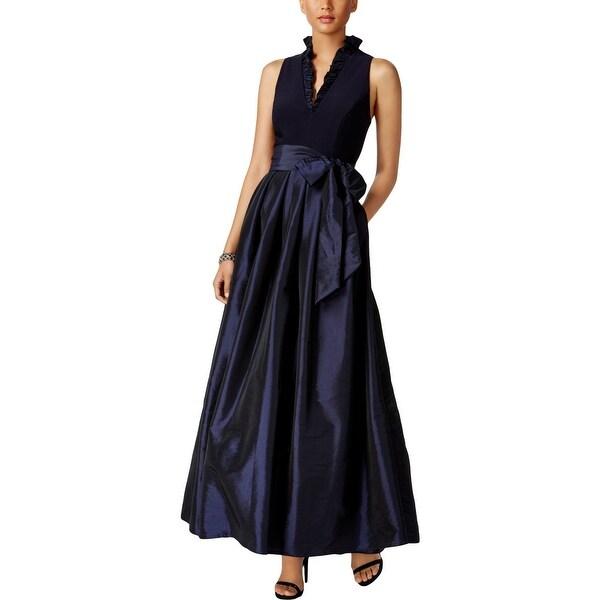 Jessica Howard Womens Evening Dress Formal Pleated