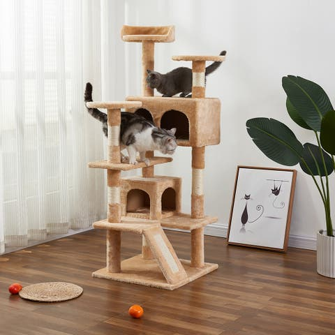 Cat Tree Scratching Board with Sisal Rope Cat Climbing Column Covered