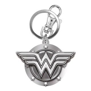 DC Comics Wonder Woman Logo Pewter Key Ring - Silver