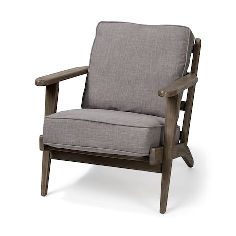 """Mercana Olympus II Flint Gray Fabric Covered Wooden Frame Accent Chair - 28"""" W x 31 D x 32"""" H"""