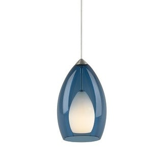 Tech Lighting 700MO2FIRU Two-Circuit MonoRail Fire Translucent Steel Blue Murano Glass Pendant - 12v Halogen