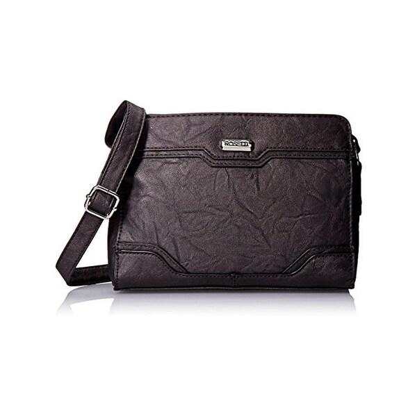 3fb72e7b7cb4 Shop Rosetti Womens Hilary Crossbody Handbag Faux Leather Textured ...