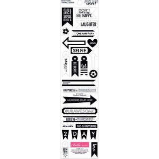 """Just Add Color Cardstock Stickers 3""""X12""""-Black & White Trinkets"""