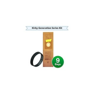 Envirocare Replacement Vacuum Bags & Belt Kit for Kirby 839-9 / Generation Series / Ultimate G